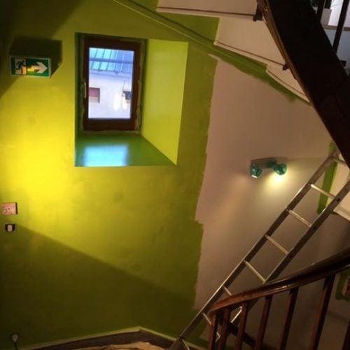 L'entrée du Gite en vert et bois re…