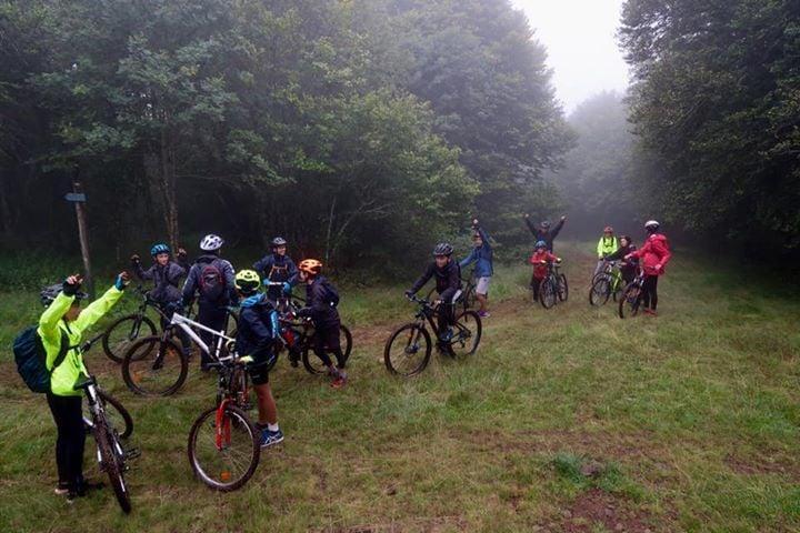 Premier jour du camp itinérant VTT ...