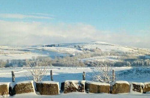 L'hiver s'installe sur l'Aubrac et …
