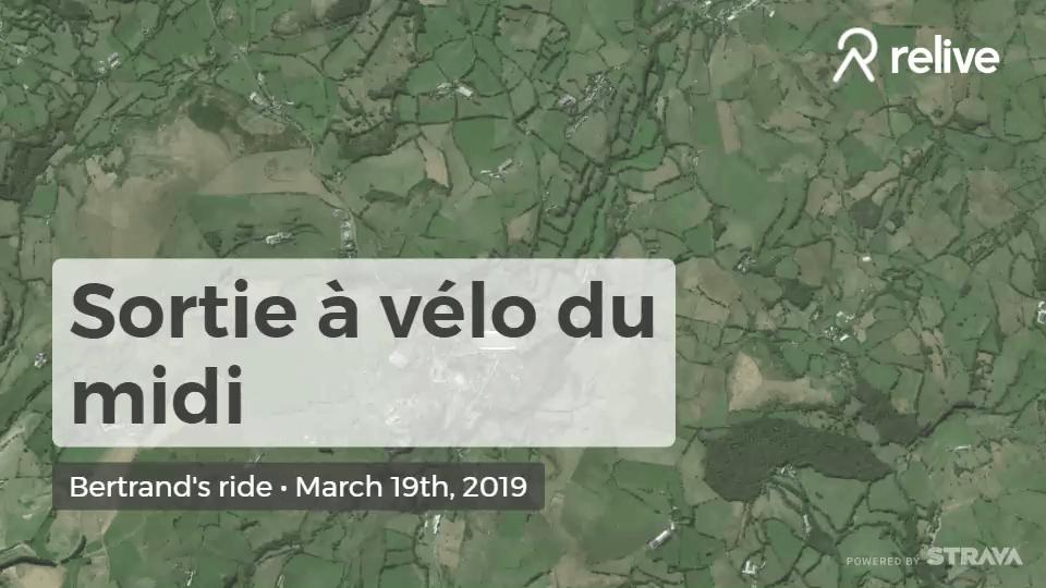 Relive 'Sortie à vélo du midi'