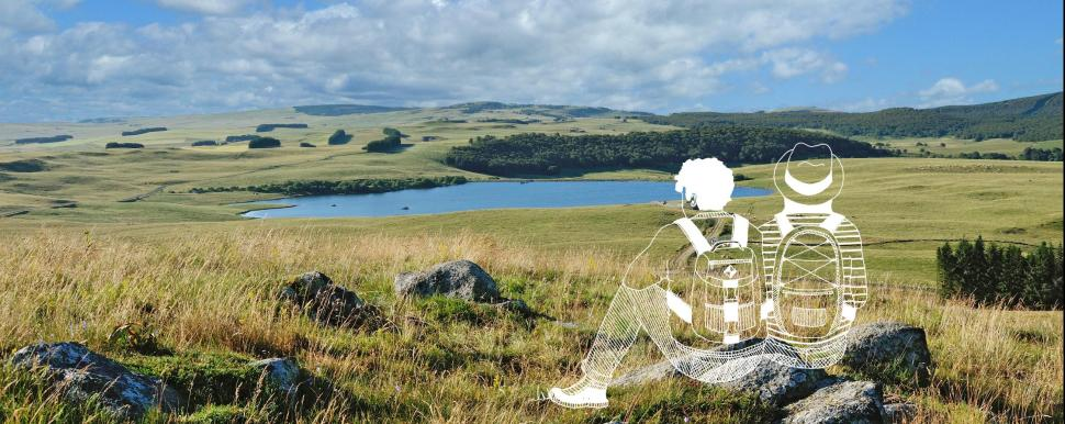 Sac à dos d'Aubrac à Laguiole : paysages grandioses et rencontres